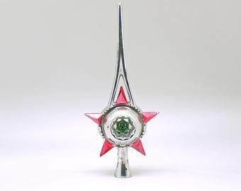 Vintage Christmas Tree Topper Sputnik Mid Century Space Age Christmas Decoration