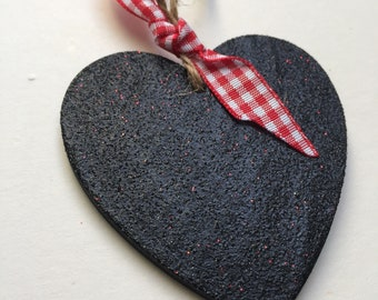 SALE Glittery Wooden Hanging Heart