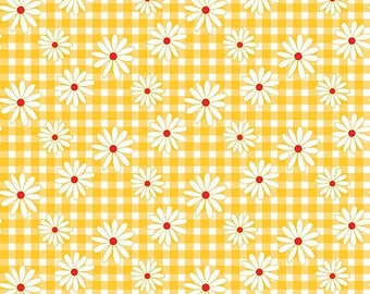 ON SALE Penny Rose Fabrics Gingham Girls By Amy Smart Daisy Yellow