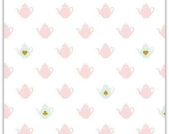 ON SALE Wonderland 2 by Melissa Mortensen Tea Pot White Sparkle