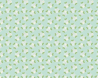 EXTRA20 20% OFF Riley Blake Designs Garden Girl by Zoe Pearn - Posies Mint