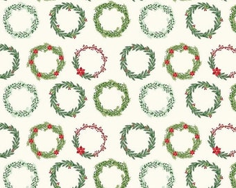 EXTRA20 20% OFF Comfort and Joy By Dani Mogstad for My Mind's Eye - Cream Wreaths