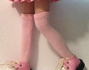 Pink Makes Me Smile Tall Socks...For Blythe...