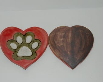 I heart my best friend cat, dog, pet paw print
