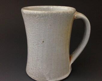 Coffee Mug - Gray Soda Glaze - Fine Incised Line Decoration - Wheel Thrown Coffee Mug