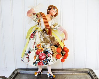 vintage layna doll spanish lady fancy dress sequins and lace