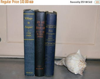 Close Out Sale Vintage Book Collection, 1940's Blue