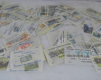 Huge Lot of Vintage Stamps in 69 Glassine Envelopes - Most All Foreign Used, Many in each package - from Kenmore and Mystic Stamp Company
