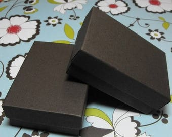 memorial day sale 10 Pack 21 Size Chocolate Brown Matte Finish Cotton Filled Jewelry Retail Gift Boxes