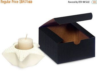 memorial day sale 100 Pack Matte Pinstripe Paper Tuck Top Style Packaging Retail Gift Boxes 4X4X2 Inch Size