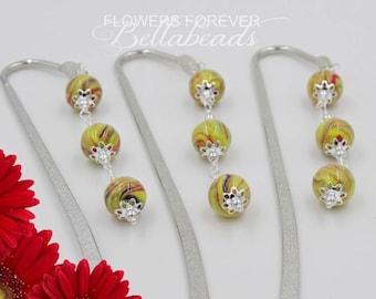 Flower Petal Jewelry, Memorial Beads, Memorial Gift Idea, Pet Loss Jewelry, Miscarriage Memorial, Keepsake Jewelry, Funeral Flower Bookmark