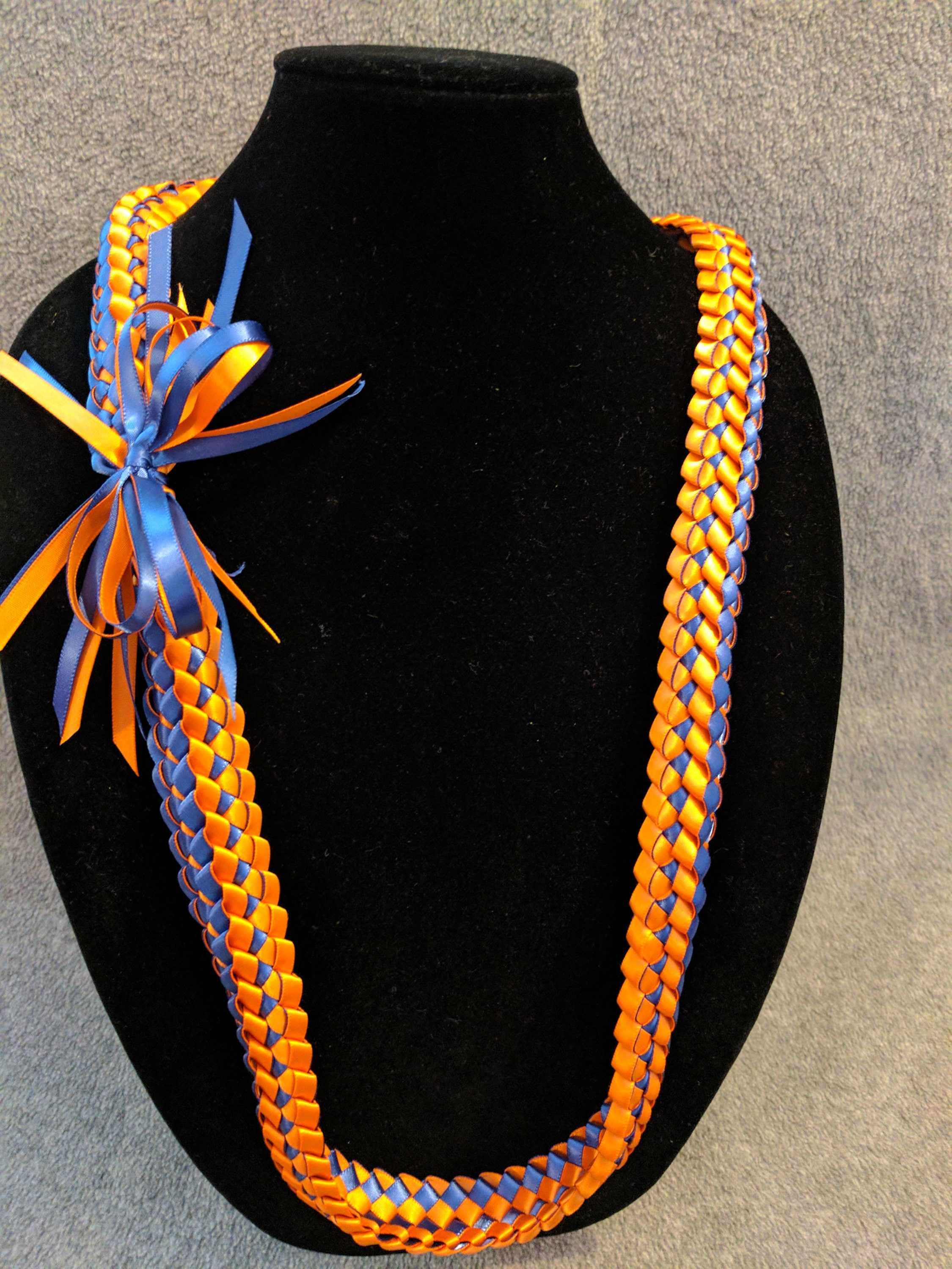 Lei Can Be Made With Construction Paper Yarn Solid: Double Braid Ribbon Lei