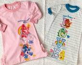 Set of 2 Girl's Vintage *Size 3T* Long Care Bears Nightgowns