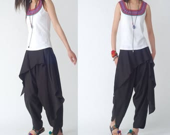 Free Shipping SALE Size XS - Here comes the sun - harem pants (K1202)