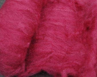 BFL Hand Dyed, Hand Carded Batts  50 grams