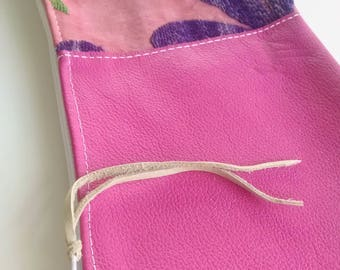 CLEARANCE!  Handmade Genuine Leather  and Hand Stitched Clutch 11.5 x 5