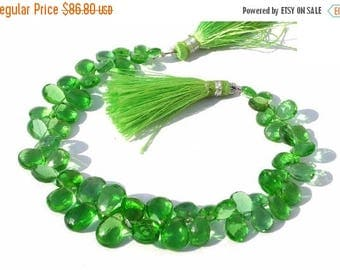 50% Off Sale Full 8 Inches -- Outrageous AAA Green Quartz Faceted Pear Briolettes Size - 7x5- 12x8mm approx