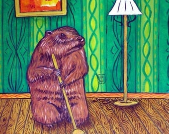 20 % off storewide Woodchuck Sweeping Animal Art TIle Coaster