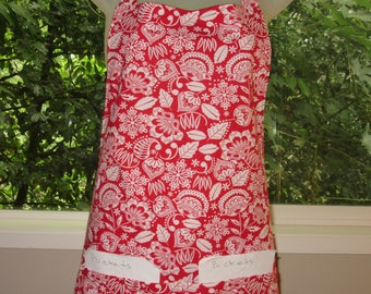 Womens Aprons - Aprons - Aprons for Women - Danish Floral In Red