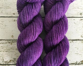 ROYAL PURPLE - Hand Dyed Yarn - Signature Merino Nylon Sock Yarn Fingering - Ready to Ship - Vivid Yarn Studio