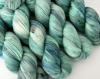SEA FOAM - Hand Dyed Yarn - High Twist Merino Nylon Sock Yarn Fingering - Ready to Ship - Vivid Yarn Studio