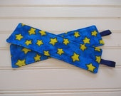 Reversible Quilted Bookmark - Stars on Blue