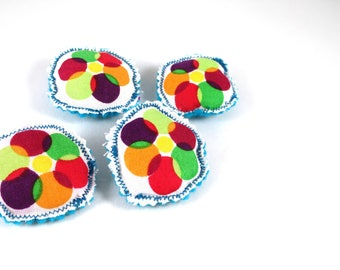 Happy Dot Brooch - Blue