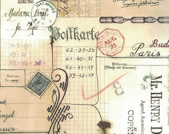 Hand Script Collage Print Paper ~ Bomo Hungary  BOM16