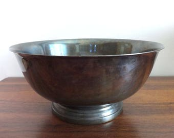 Vintage Silver Plated Serving Bowl