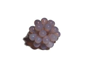 Lampwork Style Beaded Bead Pink Opal Milky Pink 18mm