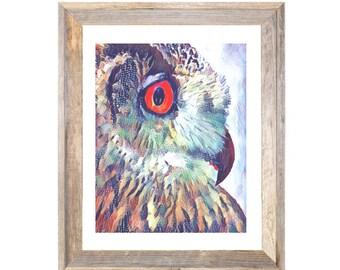 Owl Collage Digital Print Instant Download Printable Artwork