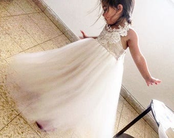 New 2017 ROYALTY ivory Flower Girl Dress, First communion dress, holy Communion Dress