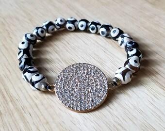 Agate bracelet, boho jewelry, beaded bracelet for women, gemstone bracelet, mothers day gift mom gifts from daughter, stacking bracelet