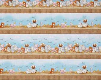 New~ Cotton Tale Farm Stripe Sky Color from Cotton Tale Farm by Bunnies by the Bay  ~ Timeless Treasures Collection, Cotton Quilt Fabric