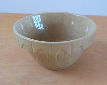 Vintage Small Stoneware Bowl • Ovenware Tan Mini Bowl