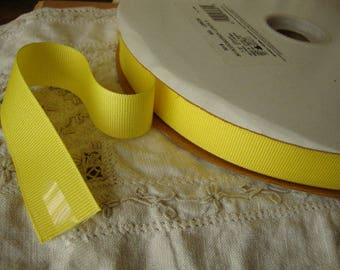 """yellow grosgrain ribbon 7/8"""" destash wedding craft supplies 3 yards yellow party crafting embellishments sewing hair accessories supplies"""