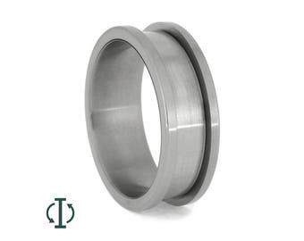 Interchangeable Titanium Ring Core, Adjustable Titanium Jewelry, Unique Wedding Bands For Men