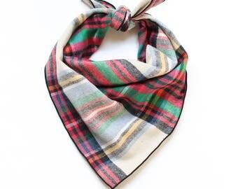 Plaid Flannel Dog Bandana - Match Your Blanket Scarf - Tartan Dog Scarf - Ready to Ship