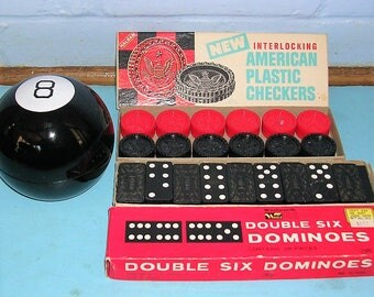 Vintage Toys Vintage Eight Ball Vintage Dominoes Vintage Checkers