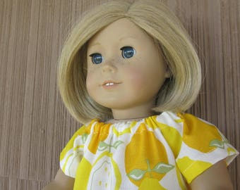American made Girl Doll Clothes Juicy by Alexander Henry Blouse and Denim Jeans Handmade Fashion