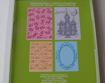 Provo Craft CuttleBug Embossing Folder Set of 4, Happy Hauntings