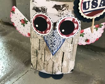 Upcycled Owl Gift Card Holder