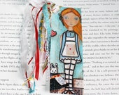 A as in Alice - Laminated Bookmark  Handmade - Original Art by FLOR LARIOS