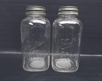 Pair of Ball Perfect Mason jars - extra large