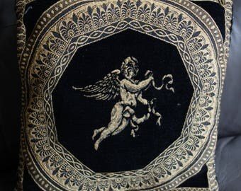 vintage cherub cushion 15x15