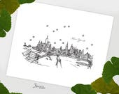 New York City - United States - Instant Download Printable Art - City Skyline Series