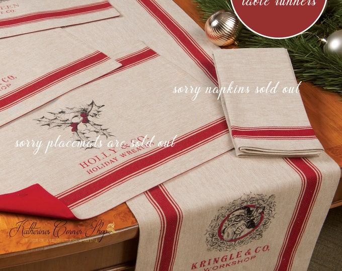 Featured listing image: Jolly Kris Kringle Christmas Table Runner