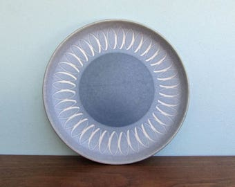 Echo Blue Bread & Butter Plates by Denby Langley Stoneware, Made in England, 2 Available