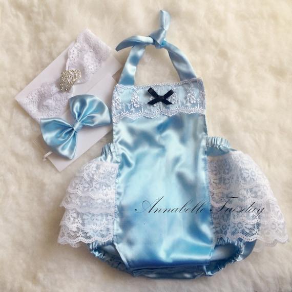 Cinderella Baby Ruffle Bottom Romper