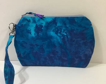 Blue and Purple ~ Kendall Wristlet